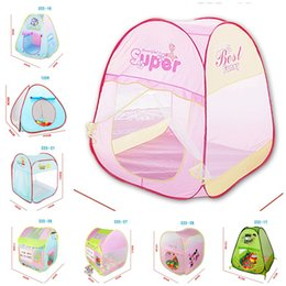 Wholesale Camping Toys For Kids - Kids Toy Tents Carton Beach House for Boys Girls Portable Home Outdoor Camp Children Christmas Gift New