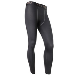 Wholesale Wholesale Compression Tights - Wholesale-New Men's Compression Base Layer Pants Long Tight Under Skin Bottom