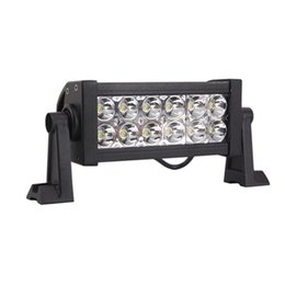 Wholesale led atv headlight - 2PCS LOTS+Epistar 36W(12*3W) 3300 LM IP67 High Power Led Work Light  led Bar- Road Driving Lamps ATV SUV Headlights