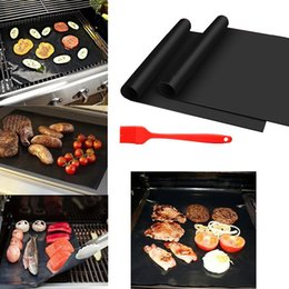 Wholesale Easy Bake Oven Black - Barbecue Grilling Liner BBQ Grill Mat Portable Non-stick and Reusable Make Grilling Easy 33*40CM Black Oven Hotplate Mats