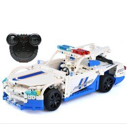 Wholesale Remote Control Police - Bulubulu RC Police Car 006 Building Blocks Charging Remote Control Toys for Boys Kids Educational Assembly Toy Gift Bricks