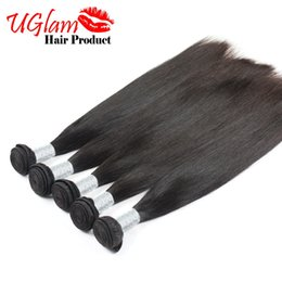 Wholesale Very Weaves - 2017 Sexy Formula Brazilian Virgin Hair Straight Best Quality Uglam Brazilian Human Hair Weaves 4Pcs Lot Free Shipping Very Soft