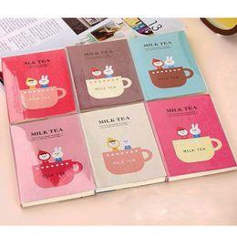 """Mini diario della tasca online-""""Tè al latte"""" Carino Mini Diario Planner Pocket Journal Scuola Studio Notebook Agenda coreana Notepad Memo Tiny Note Gift"""