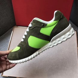 Wholesale Badge Leather - 2017.8.28 new hot fashion men Vlt top quality Badge design men casual 002 leather shoes now box