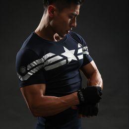 Wholesale Clothing Avengers - Captain America T Shirt 3D Printed T-shirts Men Avengers iron man Civil War Tee Cotton Fitness Clothing Male Crossfit Tops