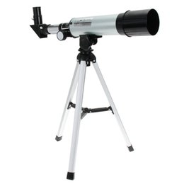 Wholesale Astronomy Telescopes - New F36050M 360 50mm Refractive Astronomical Telescope with Portable Tripod Spotting Scope Outdoor Monocular Astronomical Telescopes