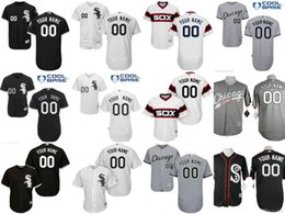 Wholesale Double Breasted Shorts - 2017 Hot Flexbase Custom Chicago White Sox Men's Shirts Authentic Personalized Cool Base Double Stitched Onfield Baseball Jersey SIZE S-5XL