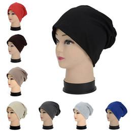 Wholesale Golf Candies - Hats for Men Women Beanies Winter Fitted Cap Ladies Knit Warm Fashion Plain Hip Hop Candy Color