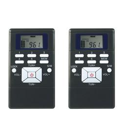 Wholesale Pc Dsp - Wholesale-2 pcs Mini Portable DSP FM Radio Stereo Digital Clock Receiver for Meeting Simultaneous Interpretation Radio FM Y4305A