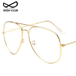 Wholesale Reading Sunglasses - Wholesale- New Fashion Metal Full Rim Glasses Women Reading Glasses Men Aviator Sunglasses Lens Vintage Transparent Glasses Oculos de sol