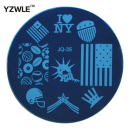 Wholesale Pcs Images - Wholesale- YZWLE 1 Pc Stamping Nail Art Image Plate, 5.6cm Stainless Steel Nail Stamping Plates Template Manicure Stencil Tools (JQ-35)