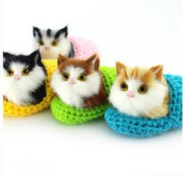 Inviare scarpe online-10cm Super Cute Simulazione Sounding Shoe Kittens Cats Giocattoli di peluche per bambini Pleasy Doll invia la sua fidanzata Regali di compleanno di Natale