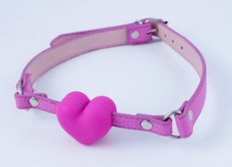 Wholesale Medical Bondage - Open Mouth Gag BDSM Medical Silicone & Leather Harness Gag Strap On Sex Toys Bondage Restraints Female Adult Products Sex Shop Slave Ball