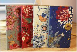Wholesale Wholesale Vintage Diary - Wholesale- 1pc Vintage Flower & Bird Pocket Notebook Note Pads Schedule Book Diaries Journals