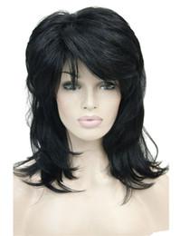 Wholesale layered black wig - X-Long Layered WLong Shaggy Layered Black Full Synthetic Wig
