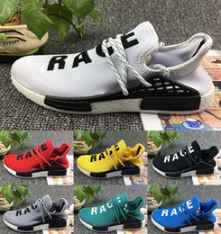 Wholesale Leather Lace For Sale - Original Pharrell Williams X NMD Human Race Running Shoes NMD Runner NMD for men women Trainers Sneakers Boots Size 36-45 onle for sale