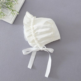 Wholesale Baby Western Hat - Wedding party High Quality Western Hat Baby Bridal Party Decorations Wedding accessories A sun - proof hat Children Girl white
