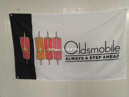 Wholesale Promotional Flags - Oldsmobile ALWAYS A STEP AHEAD FLAG Advertising Promotional Flag Banner 3X5FT