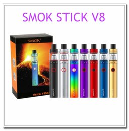 Wholesale E Cigarette Dual Tanks - SMOK Stick V8 Starter Kit With 5ml TFV8 Bigbaby Tank 3000mAh Stick V8 Battery 0.3ohm M2 Dual Core Vaporizer E Cigarette DHL