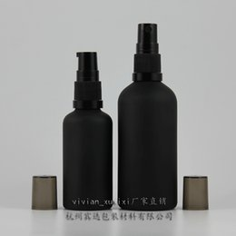 Wholesale Pump Bottles - 15ml 50ml black frosted bottle with black pump,for lotion essential oli moisturizer facial water