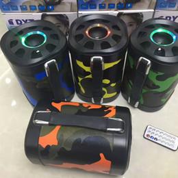 Radio de camouflage en Ligne-Camouflage Bluetooth Haut-Parleur avec Poignée Stéréo Super Bass Sans Fil Portable Soundbox Hifi Lecteur de Musique FM TF MP3 Subwoofers Extérieurs 66BT