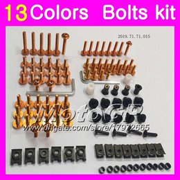 Wholesale R6 Bolt Kit - Fairing bolts full screw kit For YAMAHA R6 YZFR6 03 04 05 YZF-R6 YZF600 YZF 600 YZF R6 2003 2004 2005 Body Nuts screws nut bolt kit 13Colors