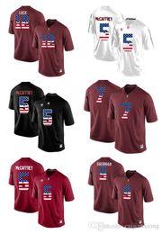 Wholesale Andrew Christian L - 2017 US Flag Fashion Men's Stanford Cardinal Andrew Luck 12 Christian McCaffrey 5 Richard Sherman 9 College Jersey size s-xxxl