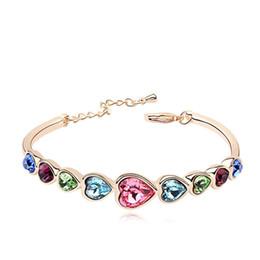 Wholesale Swarovski Shape - High -grade European and American style jewelry with Swarovski crystal bracelet heart -shaped bracelet