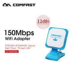 Wholesale Wifi Antenna 12dbi - Wholesale- Newest Comfast CF-WU670N usb wifi receiver Ralink RT3070 built in 12dBi antenna Wireless network usb card WIFI receiver adapter