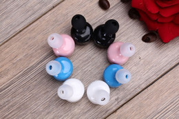 Wholesale Miniature Sound Cars - Wireless bluetooth headset Miniature binaural invisible High quality stereo sound Mobile phone Car equipment Sport Bluetooth free shipping