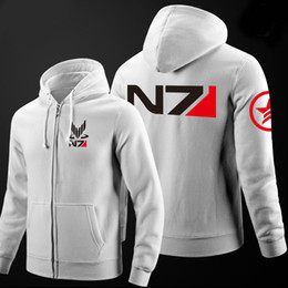 mass effect hoodie Promo Codes - Wholesale- 2016 New RPG Game Mass Effect N7 Cotton Men Hoodies Sweatshirt Mens Sportswear Suit Pullover Men's Tracksuits Moleton Masculino
