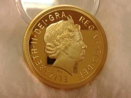 Pièce de monnaie commémorative en plaqué or 24 carats de Saint George Slaughter Dragon 2013 ? partir de fabricateur