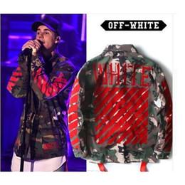 Wholesale Korean Men Clothing Coat - 2017 mens off white jacket autumn 1: 1 brand winter designer korean clothes coat kryptek camouflage camo army military