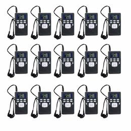 mejores radios Rebajas Radio mayor-15pcs de la radio de bolsillo del receptor de radio de Digitaces DSP de la radio de DSP para la reunión grande con el mejor de los auriculares Y4305