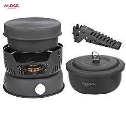 Wholesale Outdoor Camping Cook Sets - ALOCS 10pcs Set Camping Cook Set High Quality Portable 2 - 4 Person Kitchenware Outdoor Tablewares For Outdoor Picnic Hot +B
