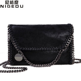 Wholesale Evening Detailing - Wholesale-Fashion Womens Stella Design Chain Detail Cross Body Bag Ladies Shoulder bag clutch bag bolsa franja luxury evening bags
