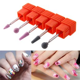 Wholesale nail file for drill - 5Pcs Set Round Sharp Drill Heads for Manicure Predicure Grinding Machine DIY Nail File Polishing Device Replacement Drill Heads
