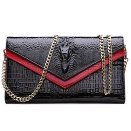 Wholesale Hard Shell Clutch - Shoulder Bags Genuine Leather Women's Bag Designer High Quality Clutch Fashion Women Leather Handbags Chain For Women