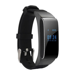 Wholesale Wrist Bluetooth Headset - Bluetooth Smartband Smart Bracelet Watch DF22 HiFi Sound Headset Digital Wrist Calories Pedometer Track Fitness Sleep Monitor