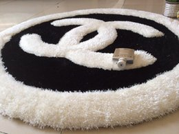 Wholesale Bedroom Mats - Light silk top handmade carpet logo custom stretch yarn + 70 cm in diameter circular mat 5 kinds of patterns to choose