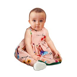 Wholesale Top Baby Girls Christmas Gifts - Baby Girls Dress 2017 Summer Sleeveless Baby Clothes Tops Jumpers Baby Dresses Pink Graffiti Top Quality Birthdays Gift