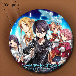Wholesale Sword Girl Online - Wholesale- Youpop Sword Art Online Anime Album Brooch Pin Badge Accessories For Clothes Hat Backpack Decoration Men Women Boy Girl XZ0508