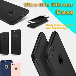 Wholesale Iphone Frosted Case - Ultra-thin TPU Case For iPhone 6 6s 6s Plus 7 7Plus Frosted TPU Soft Case iPhone 7 plus Candy Protection Cover with Opp Package