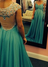 Wholesale Sparkling Sweetheart Sheer Prom Dress - Sparkling Cheap Crysatal Prom Dresses 2017 A-Line Rhinestones Prom Gowns With Sleeves Sweetheart Neck Sheer Back Long Evenig Dresses