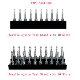 Акриловый дизайн стенда онлайн-Новаторская стойка испытания сока станции Vape конструкции акриловая e с 10 шлицами или 20 шлицами стойки испытания ejuice для ecigs магазина Vape