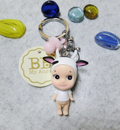 Wholesale Wholesale Vinyl Bag - Angle Keychains Supper lovely vinyl Doll Pendant Keychain For Bag Pursefation hotseller Doll Fans Product free ship