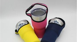 Wholesale Neoprene Sleeve Bag Case - Colored Sports Water Bottle Case for 30oz yeti cup Insulator Bag forRocky Mountain Tumbler Neoprene Pouch Holder Sleeve Cover Carrier