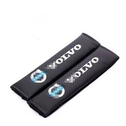 Copri sedile volvo online-2017 Hot Car Fibra di Carbonio Texture Coprisedili Coprisedili per la decorazione di Volvo spedizione gratuita
