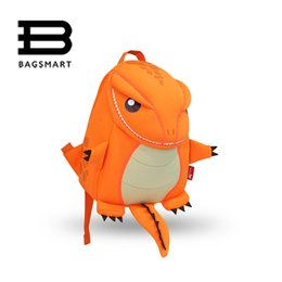 Wholesale Backpacks Animals For Kids - Wholesale- BAGSMART 2016 Animal Waterproof Kids Baby Bags Kindergarten Neoprene Orange Children School Bags For Girls Boys Cute School Bags