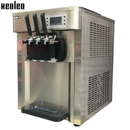 Wholesale Cream Maker Machine - Xeoleo Soft ice cream machine Commercial Ice cream maker 3 flavors Yogurt ice cream 2500W 30L H Stainless steel 220V 110V